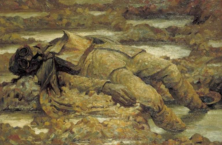 Rogers, Gilbert, 1881-1956; Gassed: 'In arduis fidelis'