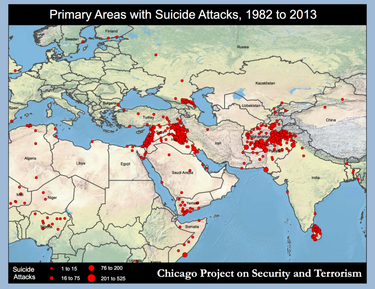 Primary areas Suicide_Attacks