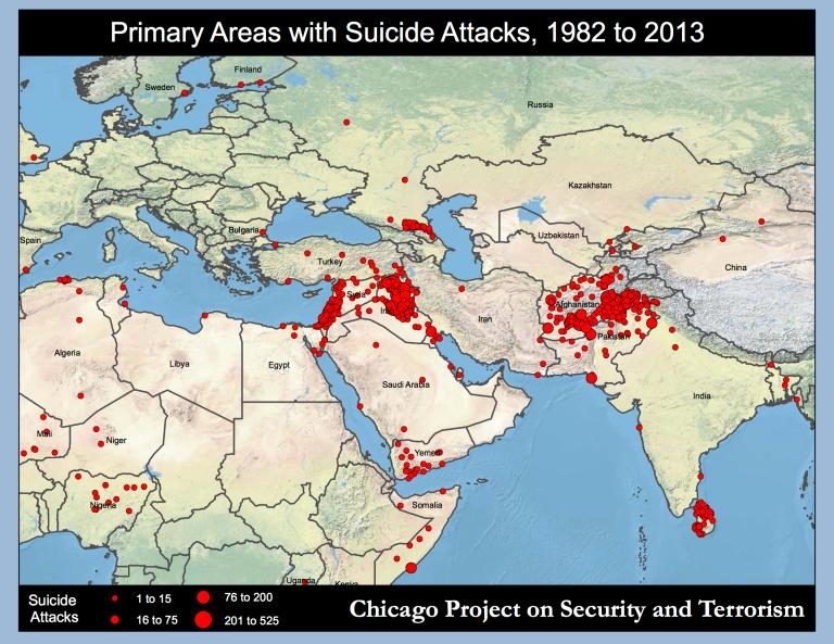 Primary areas Suicide_Attacks